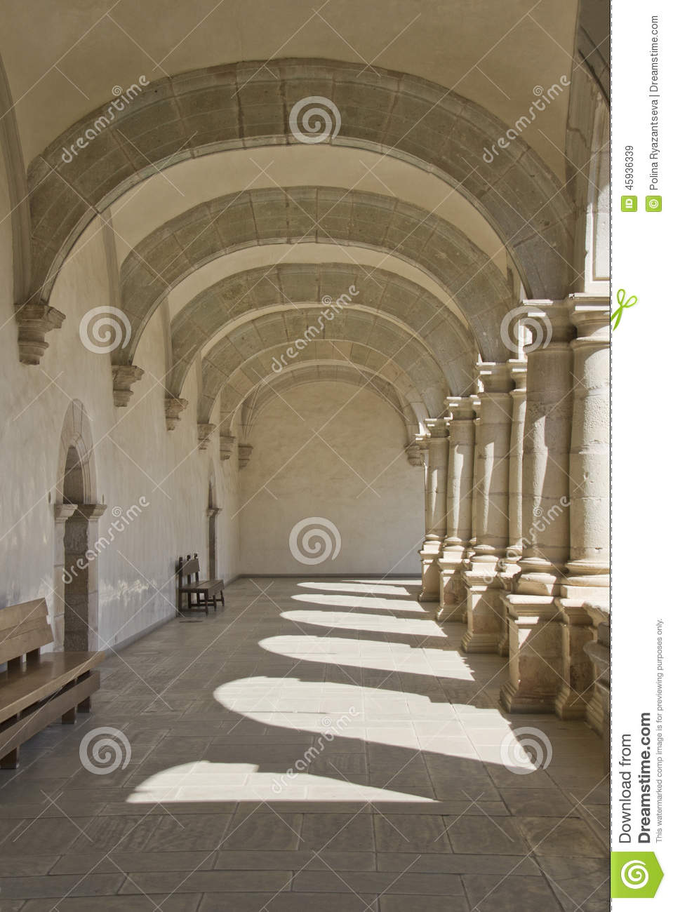 Passage With Arches And Columns