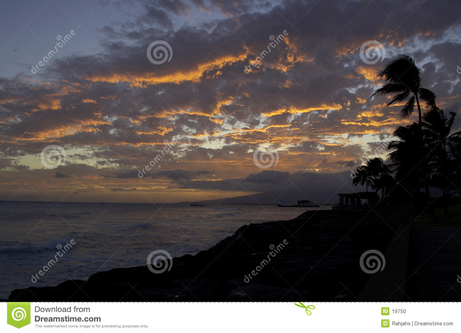 Passage d approvisionnement de soirée de Molokai