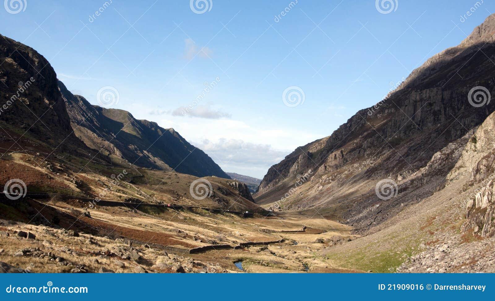 Passage de Llanberis dans Snowdonia Pays de Galles du nord