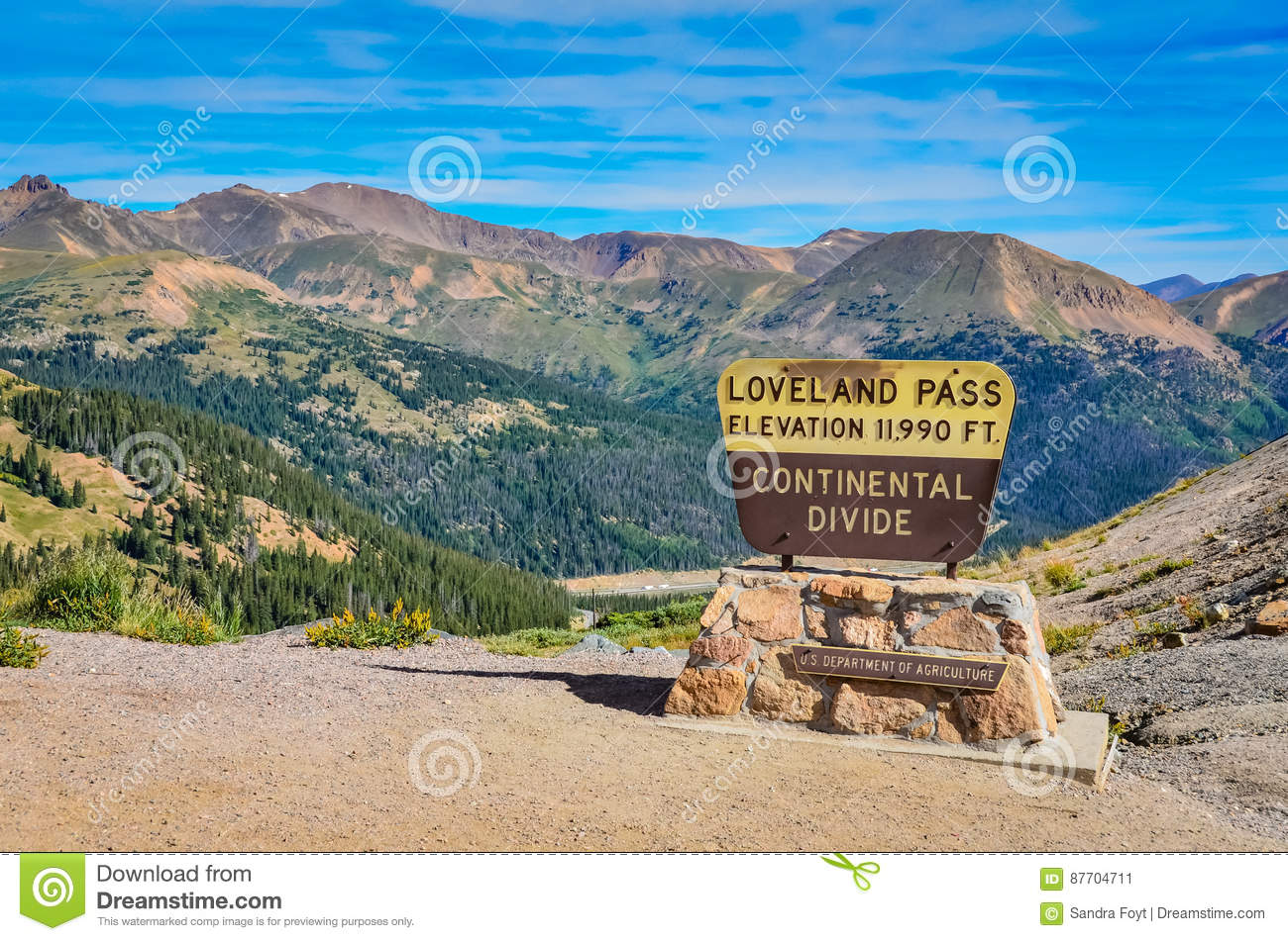 Passage de Loveland - le Colorado