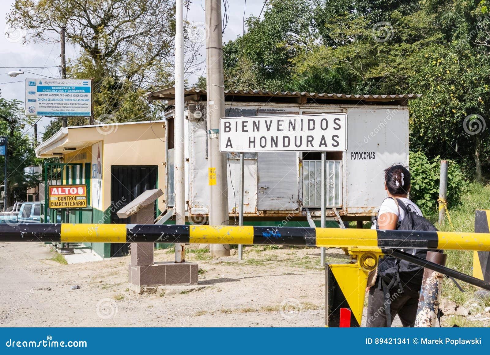 Passagem fronteiriça entre Nicarágua e Honduras