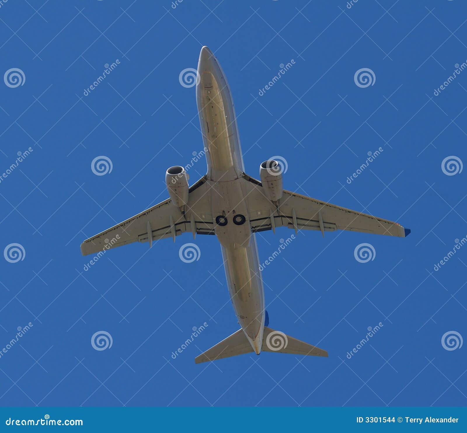 Passagerareflygplan i flyg