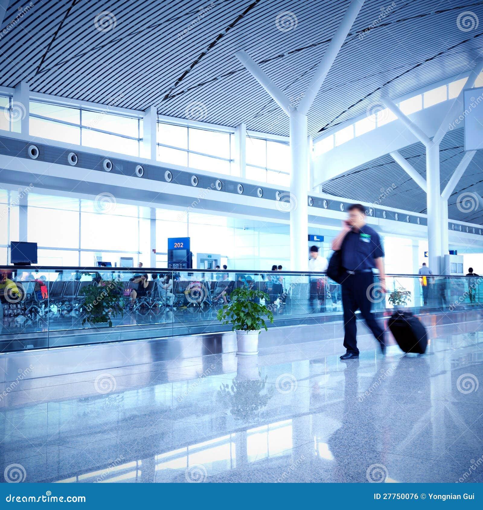 Passagers dans l aéroport