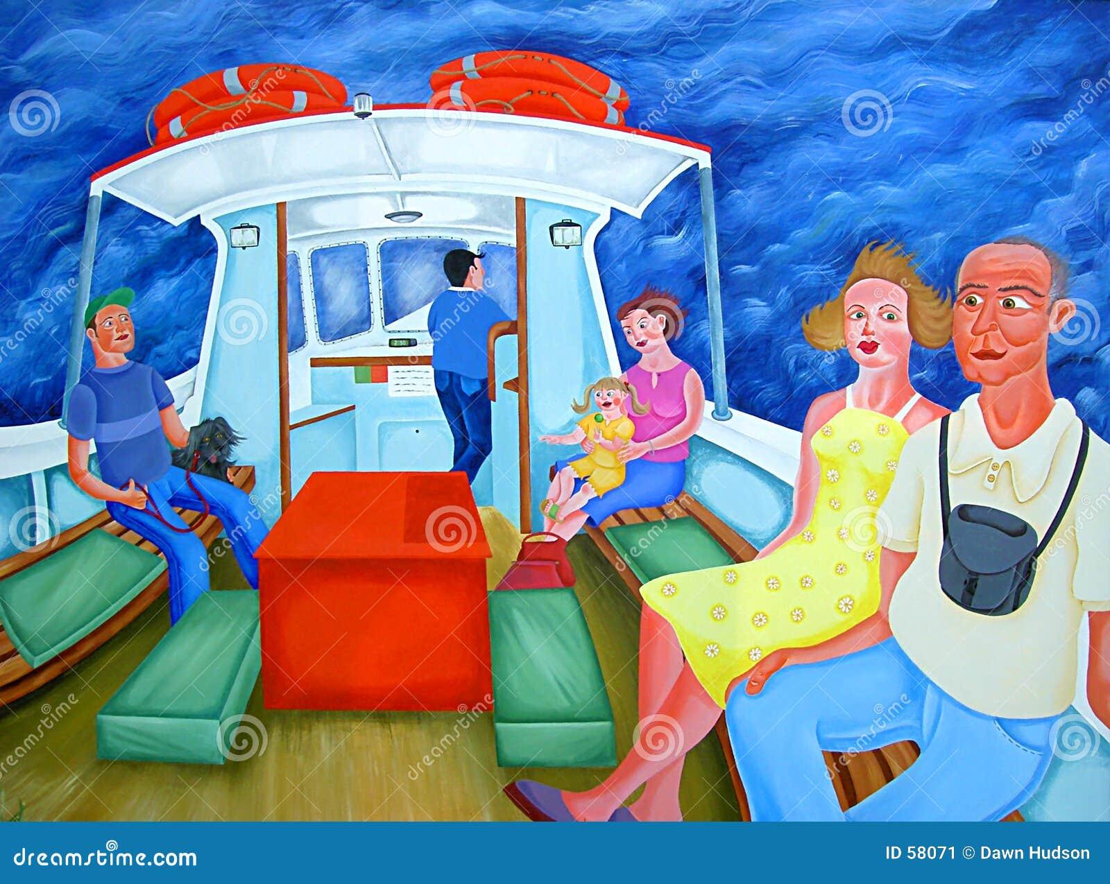 Download Passagers de bac illustration stock. Illustration du bacs - 58071