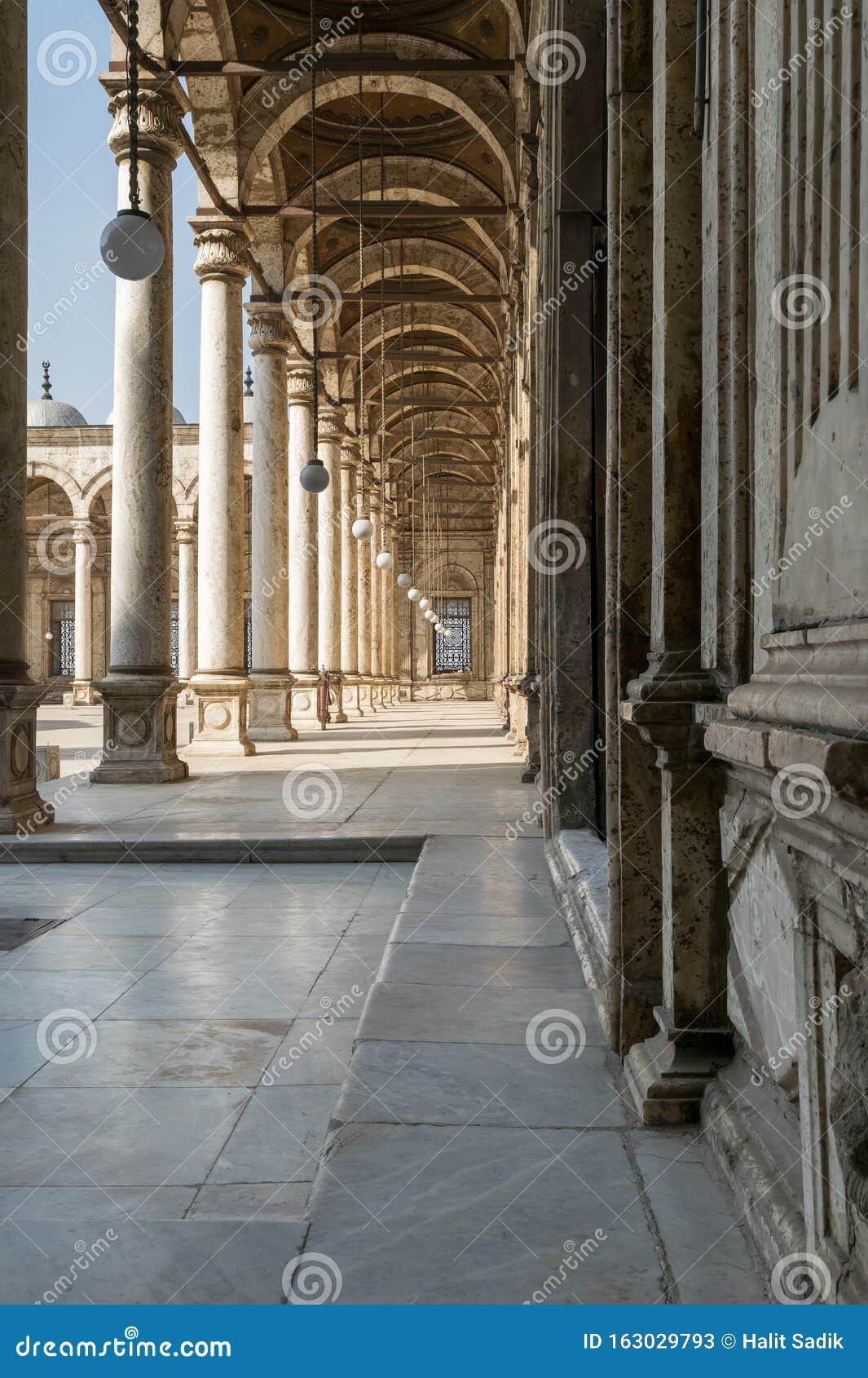Passages surrounding the court of Muhammad Ali Pasha Mosque, Citadel of Cairo, Egypt