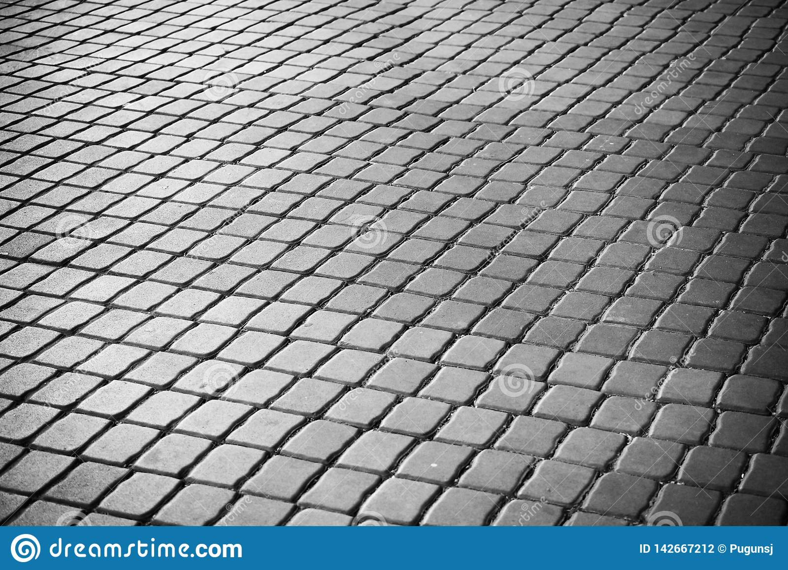 Passaggio pedonale quadrato del blog del mortaio In bianco e nero di fondo astratto Architecrure di minimalismo Dettagli della co