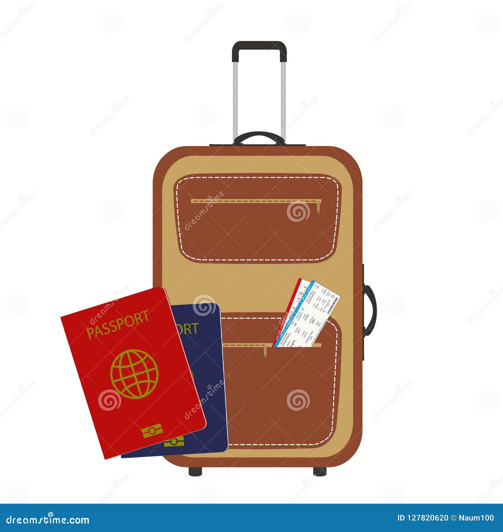 Passaportes Dos Desenhos Animados Mala De Viagem Moderna E