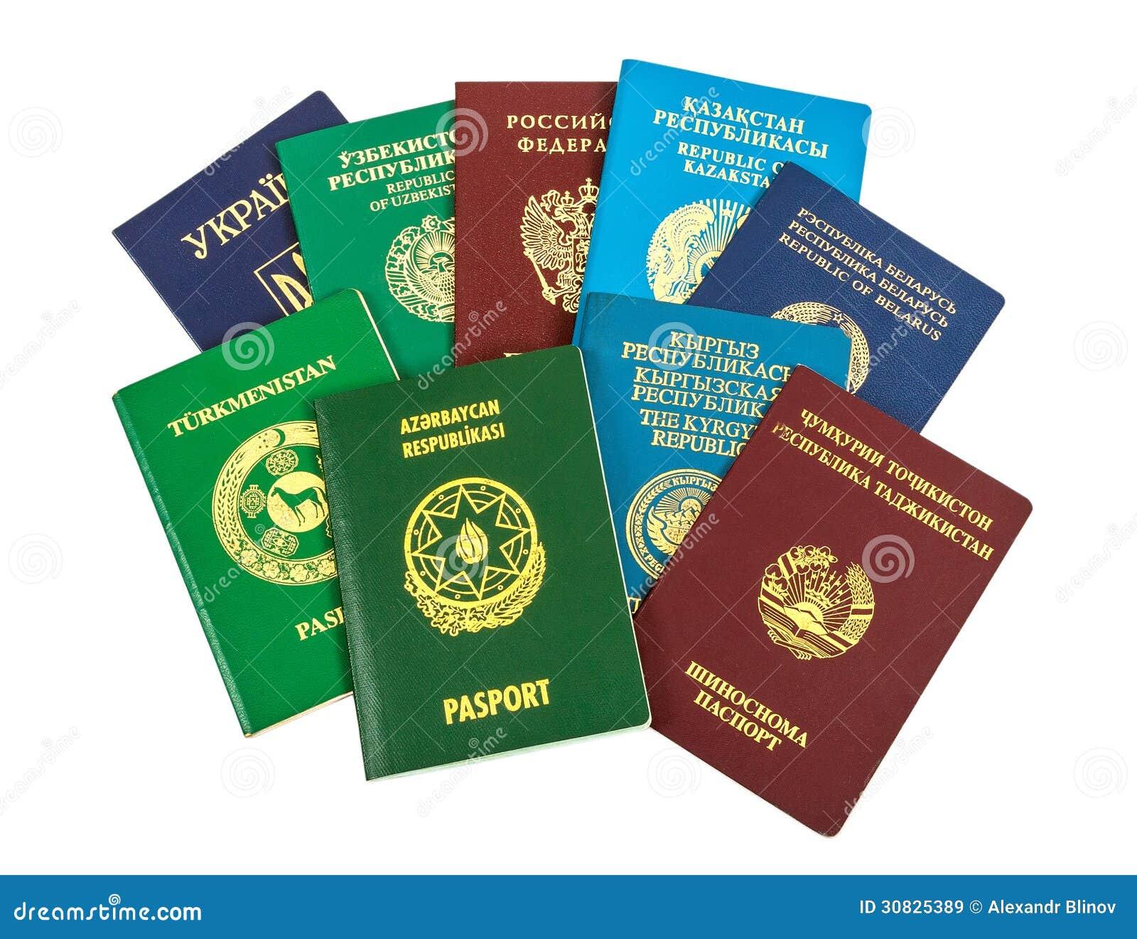 Passaporti stranieri differenti