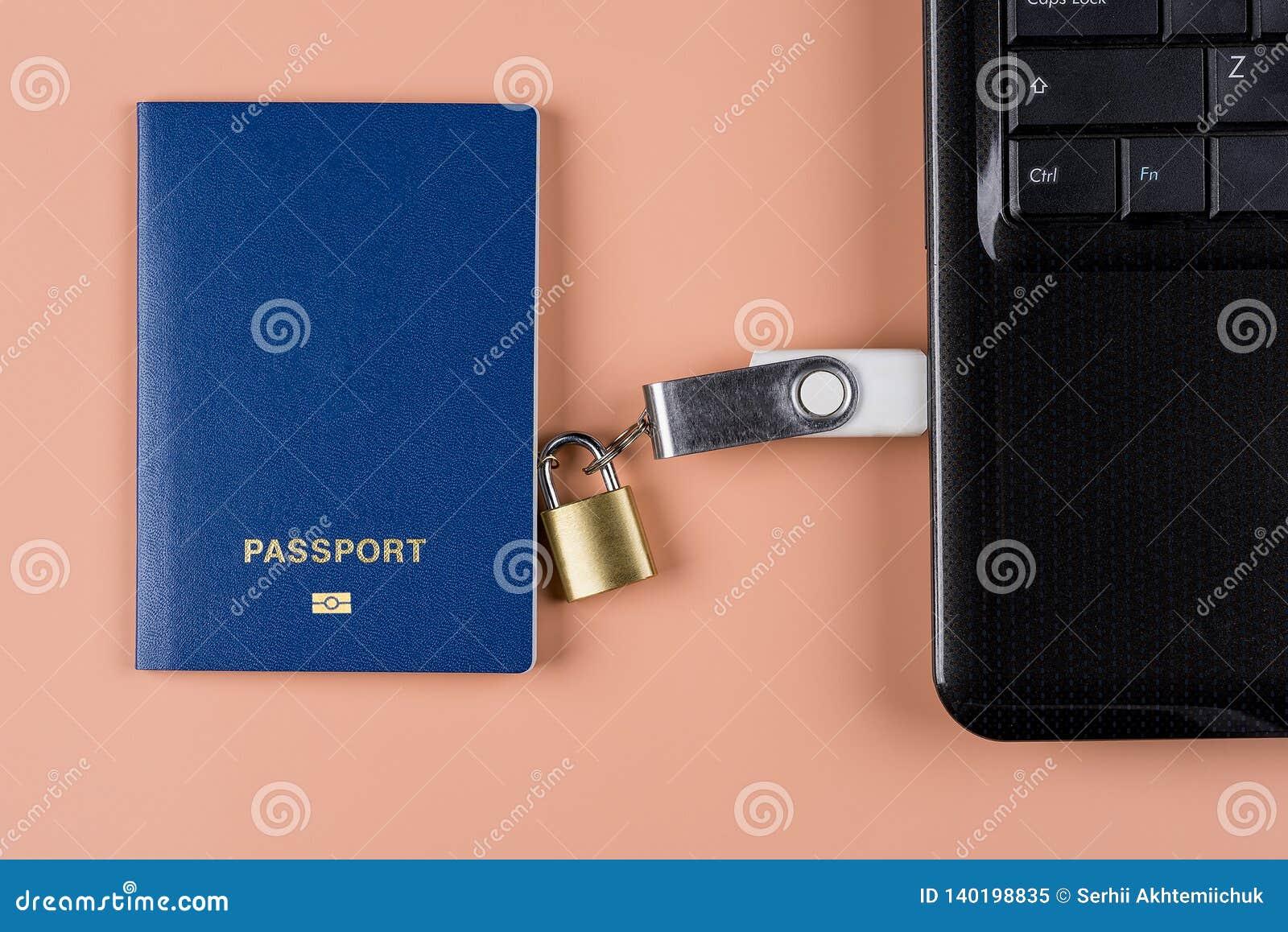 Passaporto biometrico Controllo elettronico sopra umanità