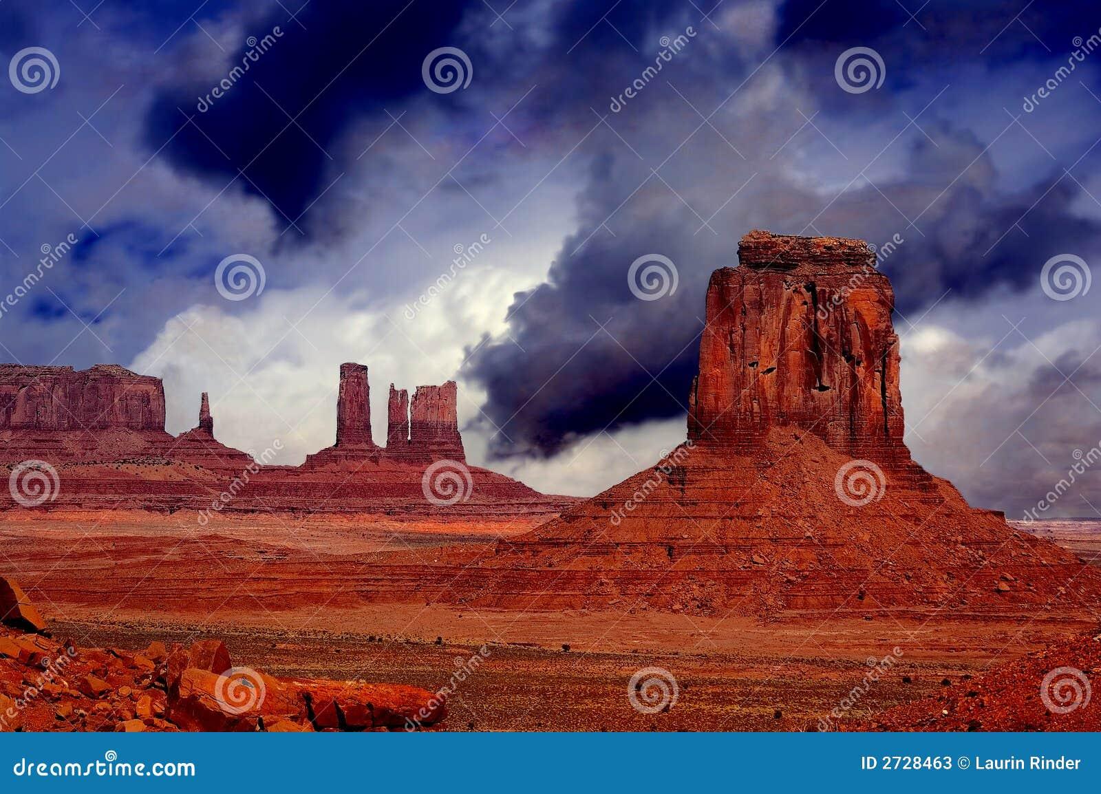 Passare tempesta, valle del monumento