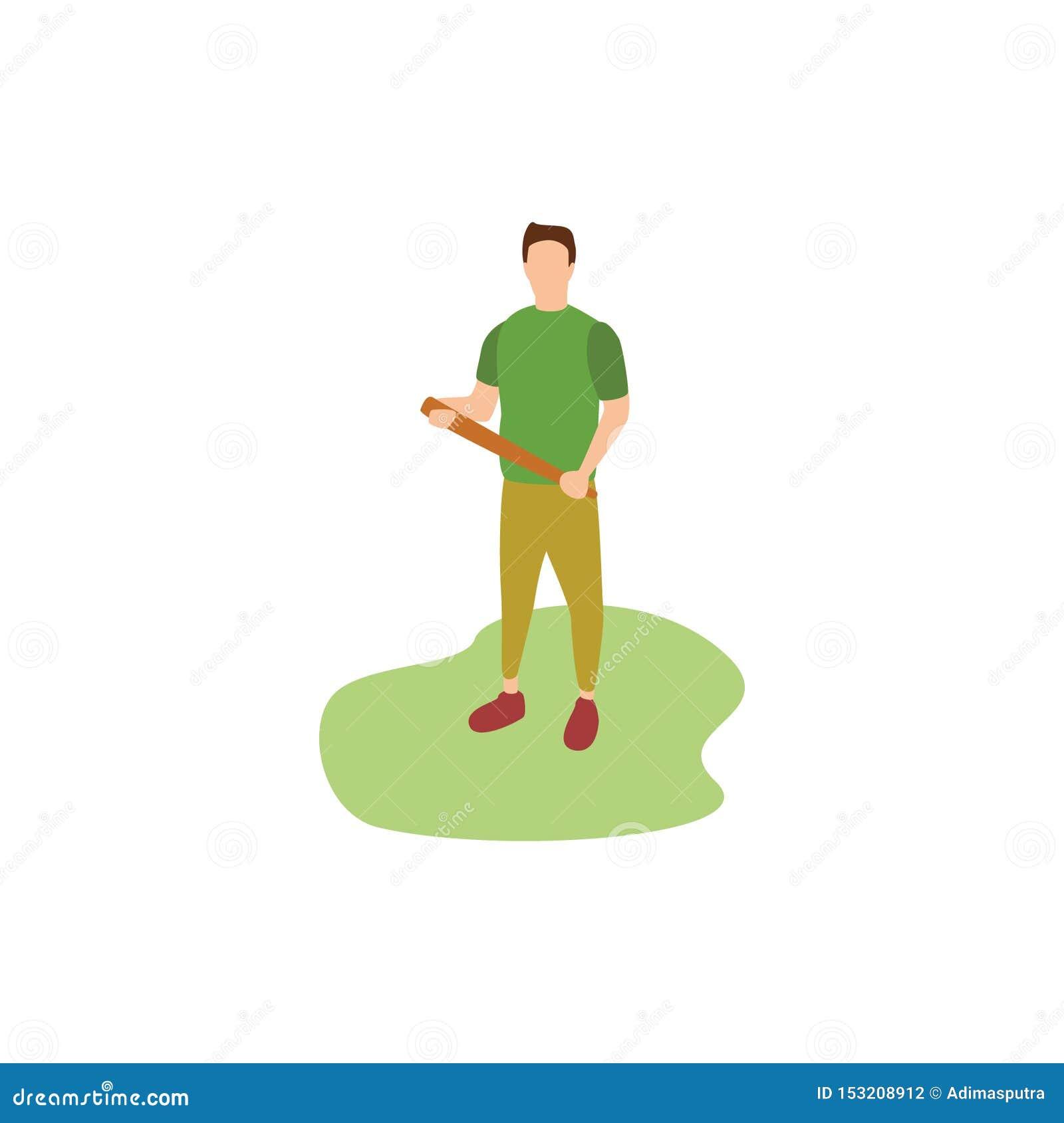 Passatempos humanos que jogam o basebol
