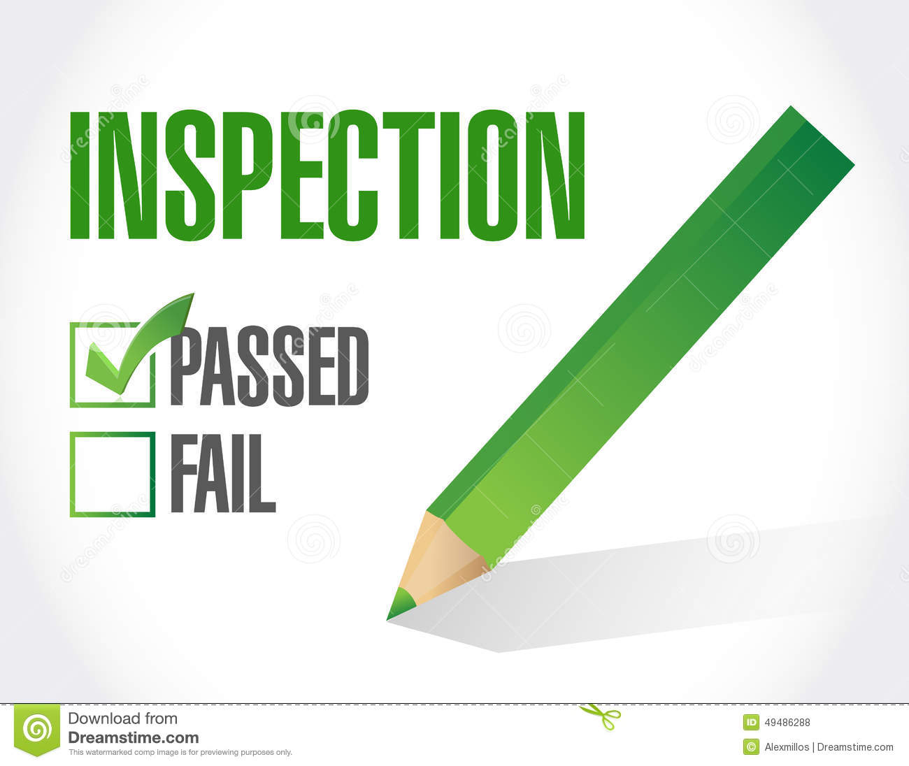 Passed Inspection Check List Illustration Design Stock
