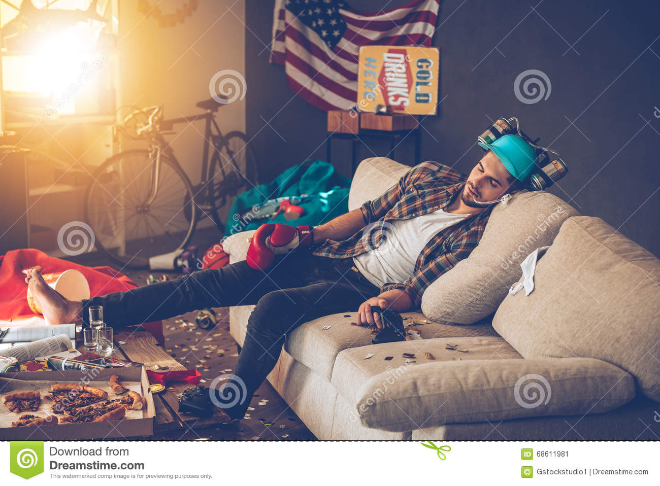 Passed Out Stock Image Image Of Alcohol American Home