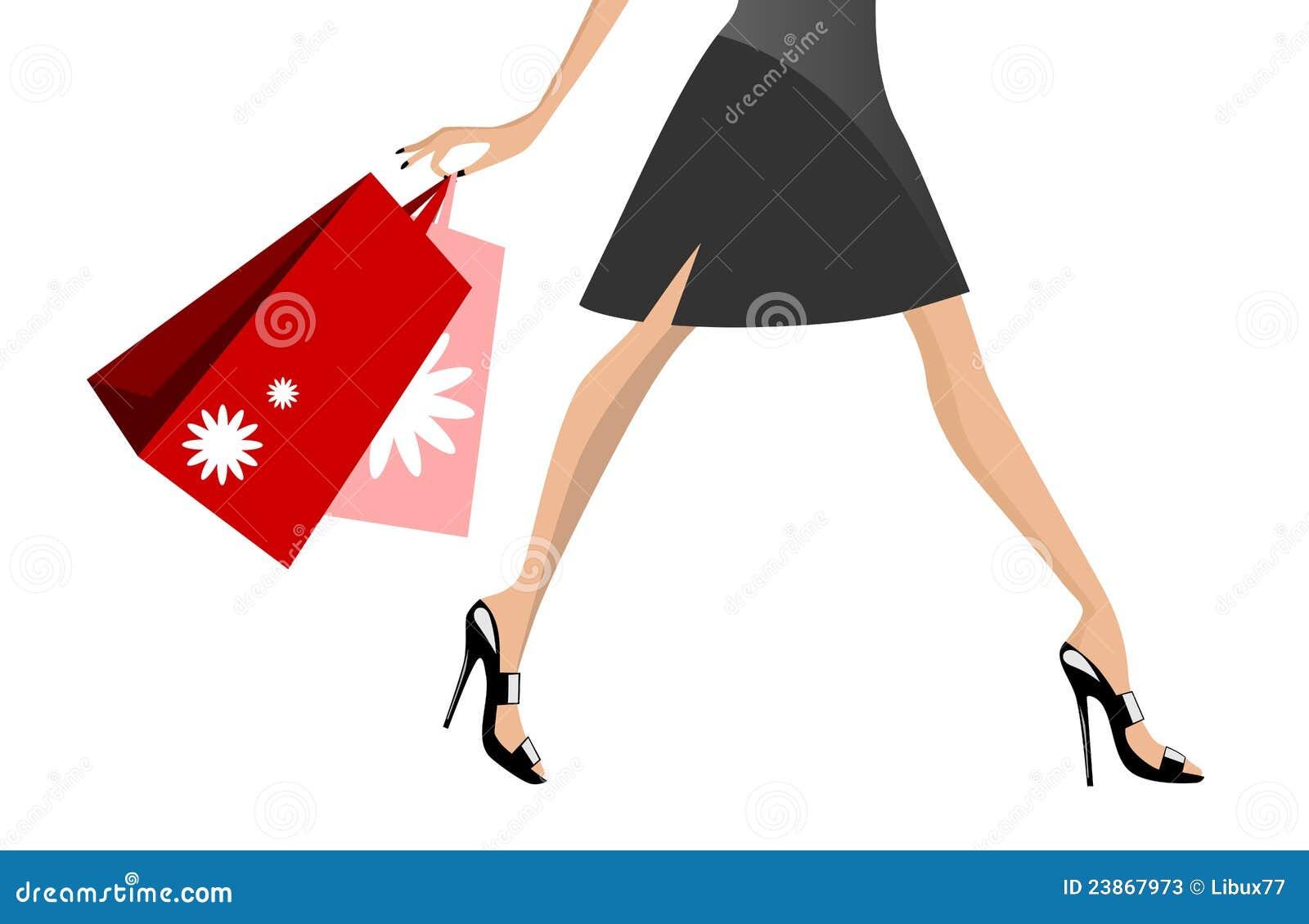 Passeio da mulher da compra