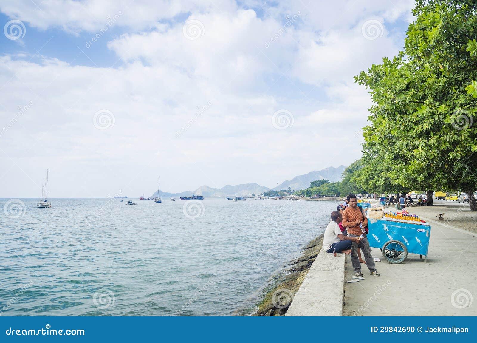 Beira-mar de Dili em Timor-Leste
