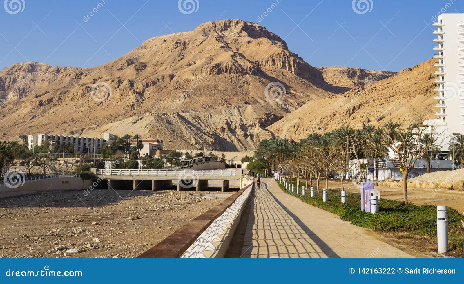 Passeio em Ein Bokek no Mar Morto