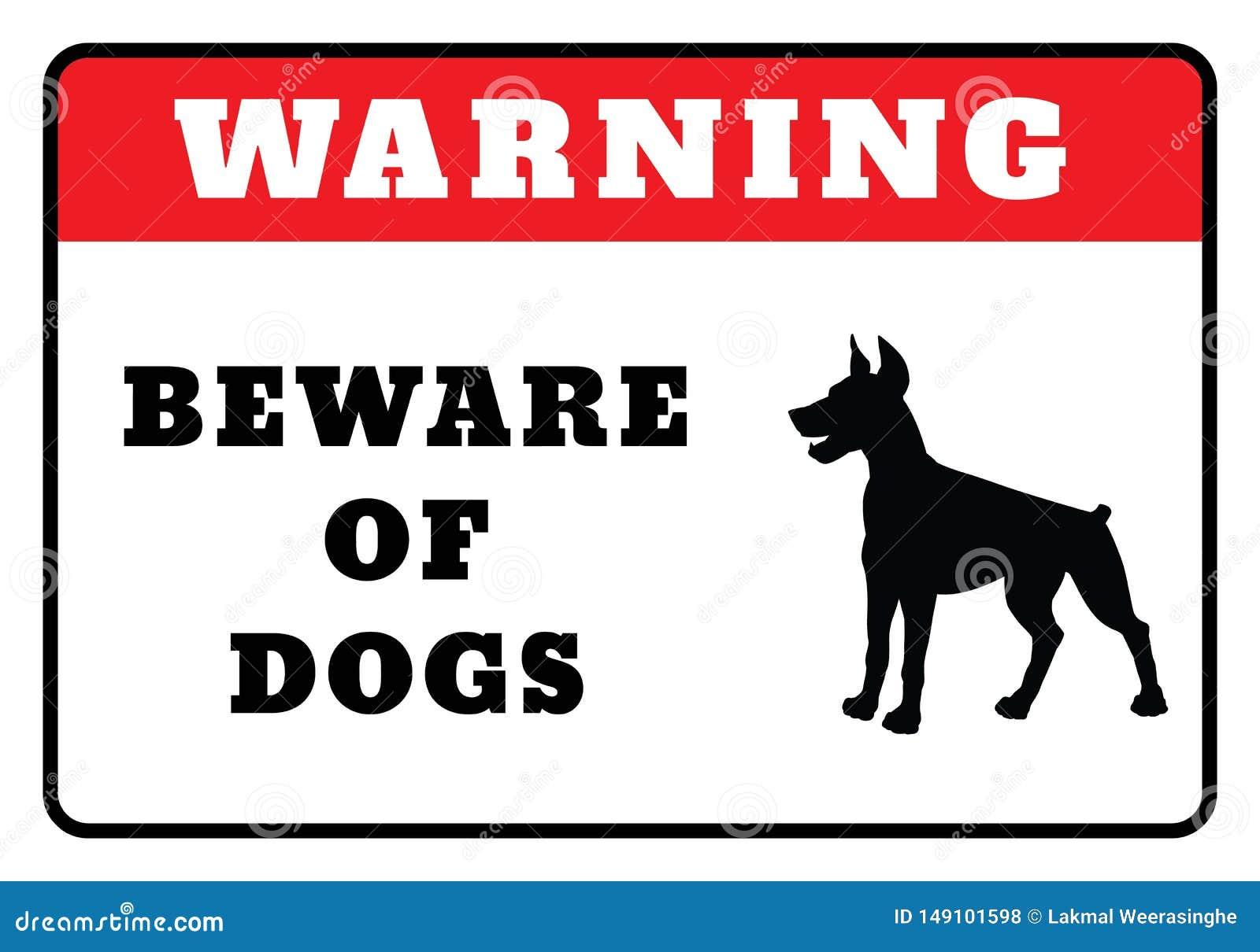 Passen Sie von den Hunden unterzeichnen auf
