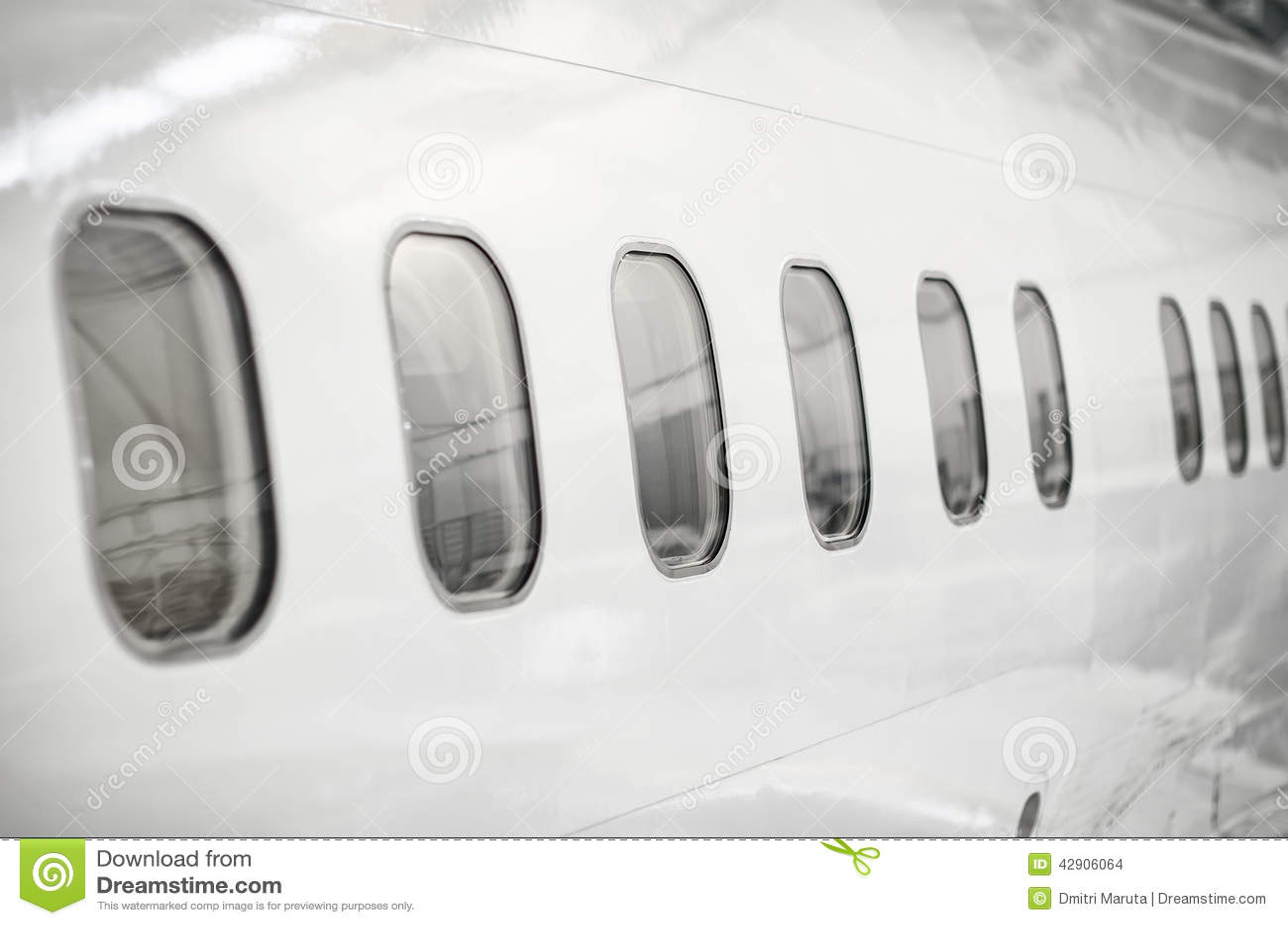 Passenger Aircraft Windows Stock Photo Image Of Line