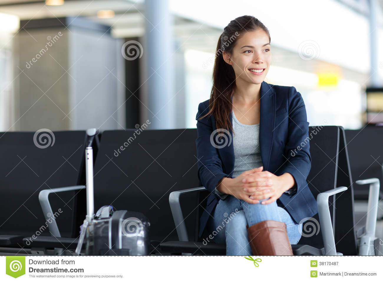 Asian Woman In Airport 100