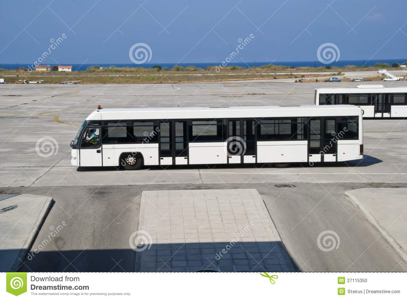 passenger bus at the airport stock photo   image 27115350