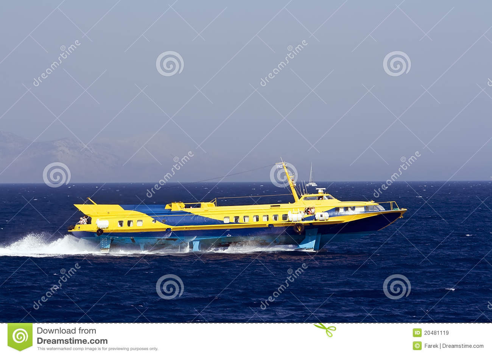 Greek hydrofoil passenger service running between the islands and ...
