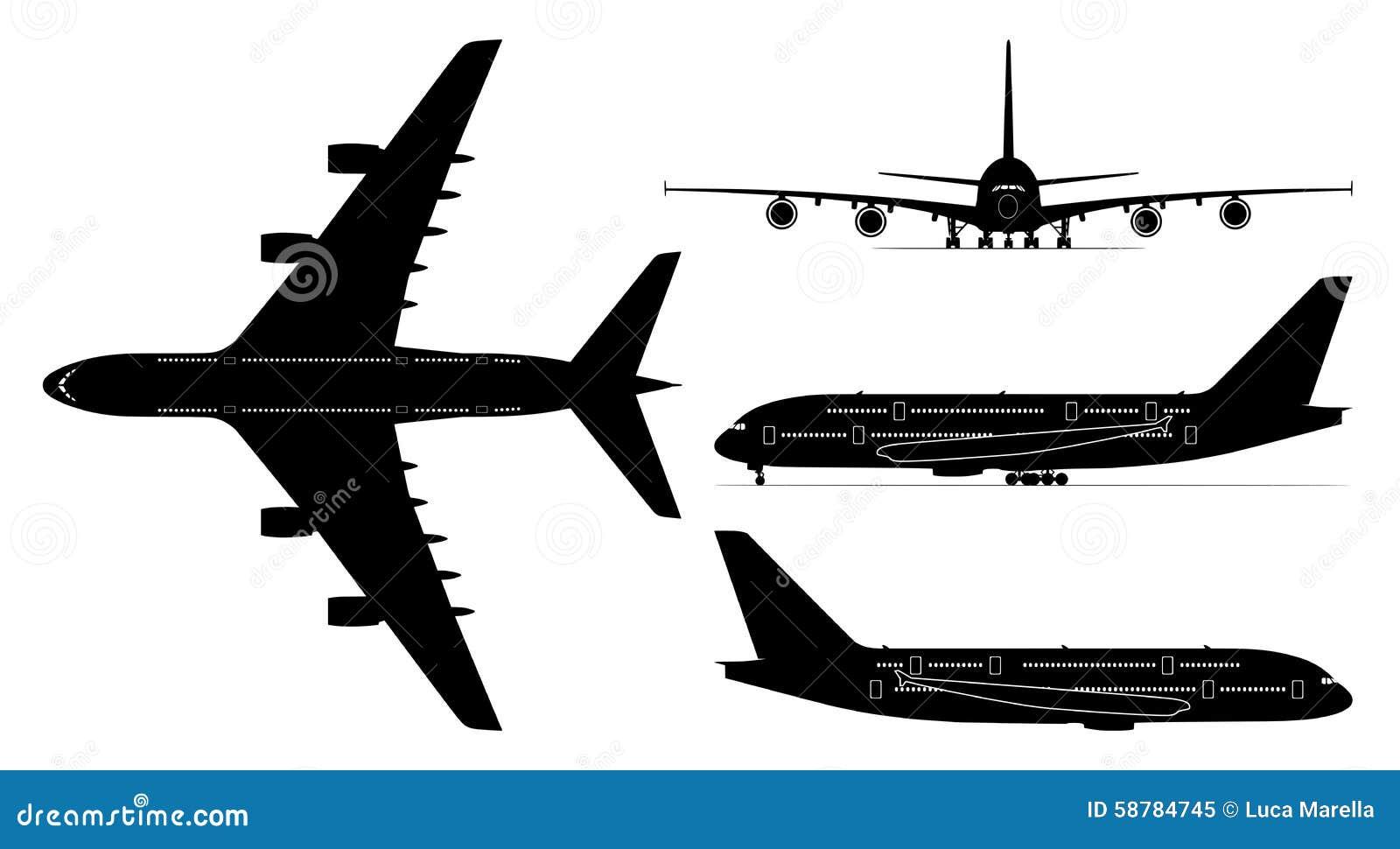 Passenger Jetliner Vector Stock Vector Illustration Of