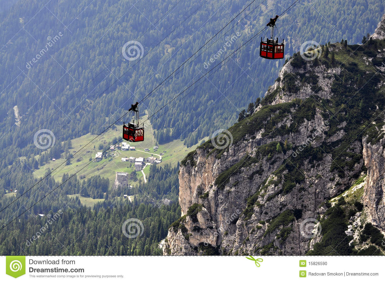 Download Passenger ropeway stock photo. Image of climbing, cableway - 15826590