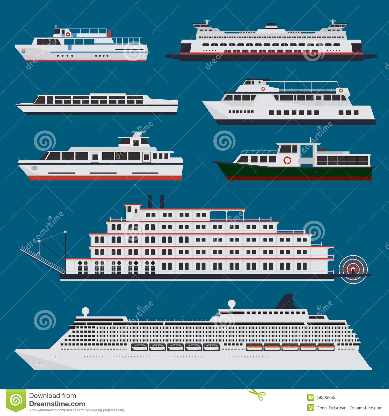 Passenger Ships Infographic Stock Vector - Image: 39503955
