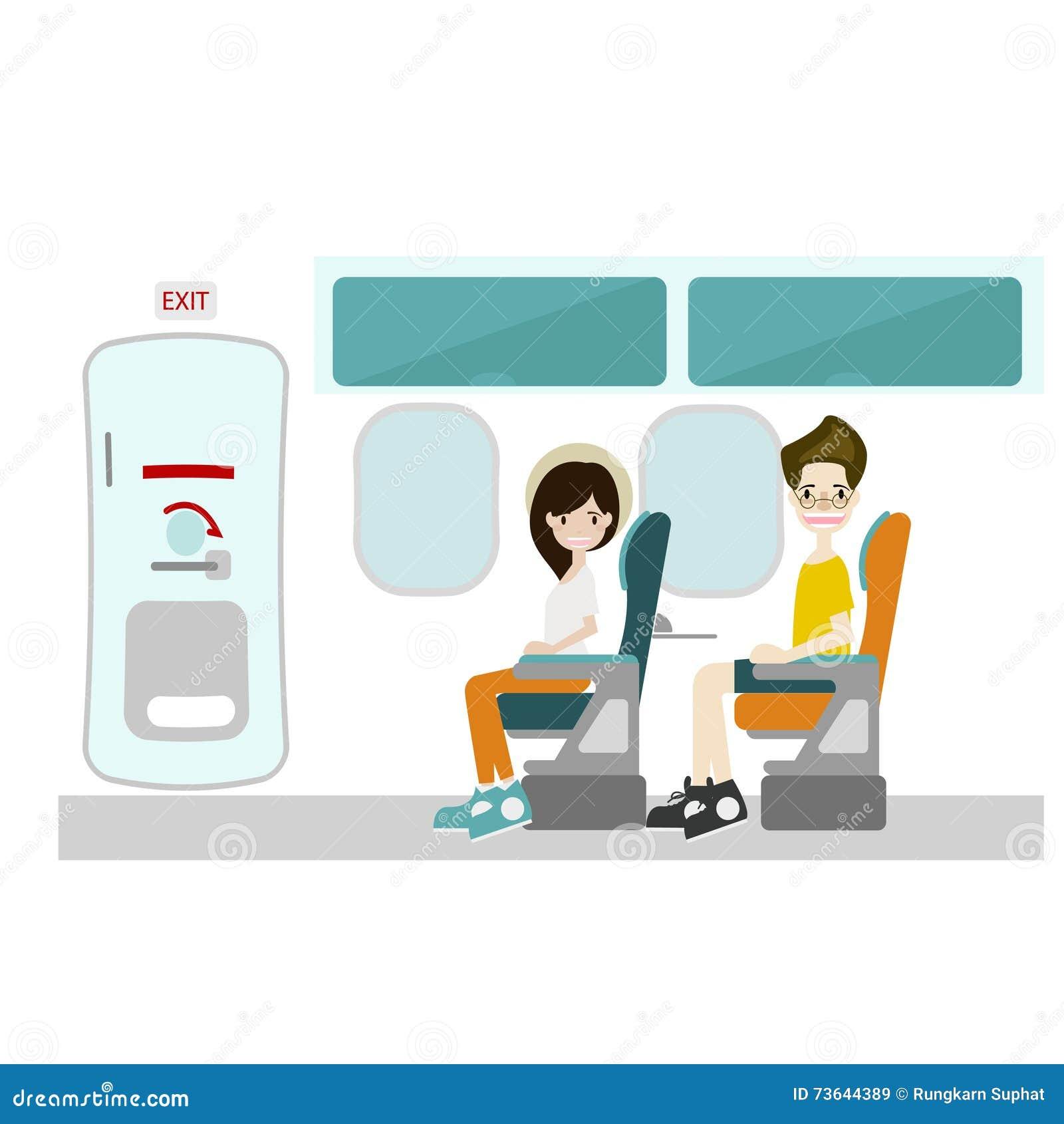 airplane window seat clipart