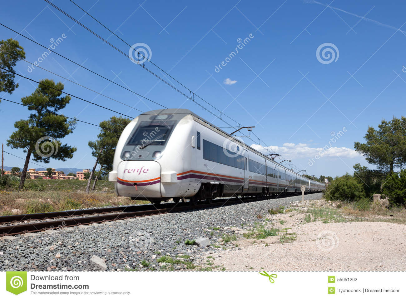 Miami Platja Spain  City new picture : ... train passing by in Miami Platja. May 6, 2015 in Miami Platja, Spain