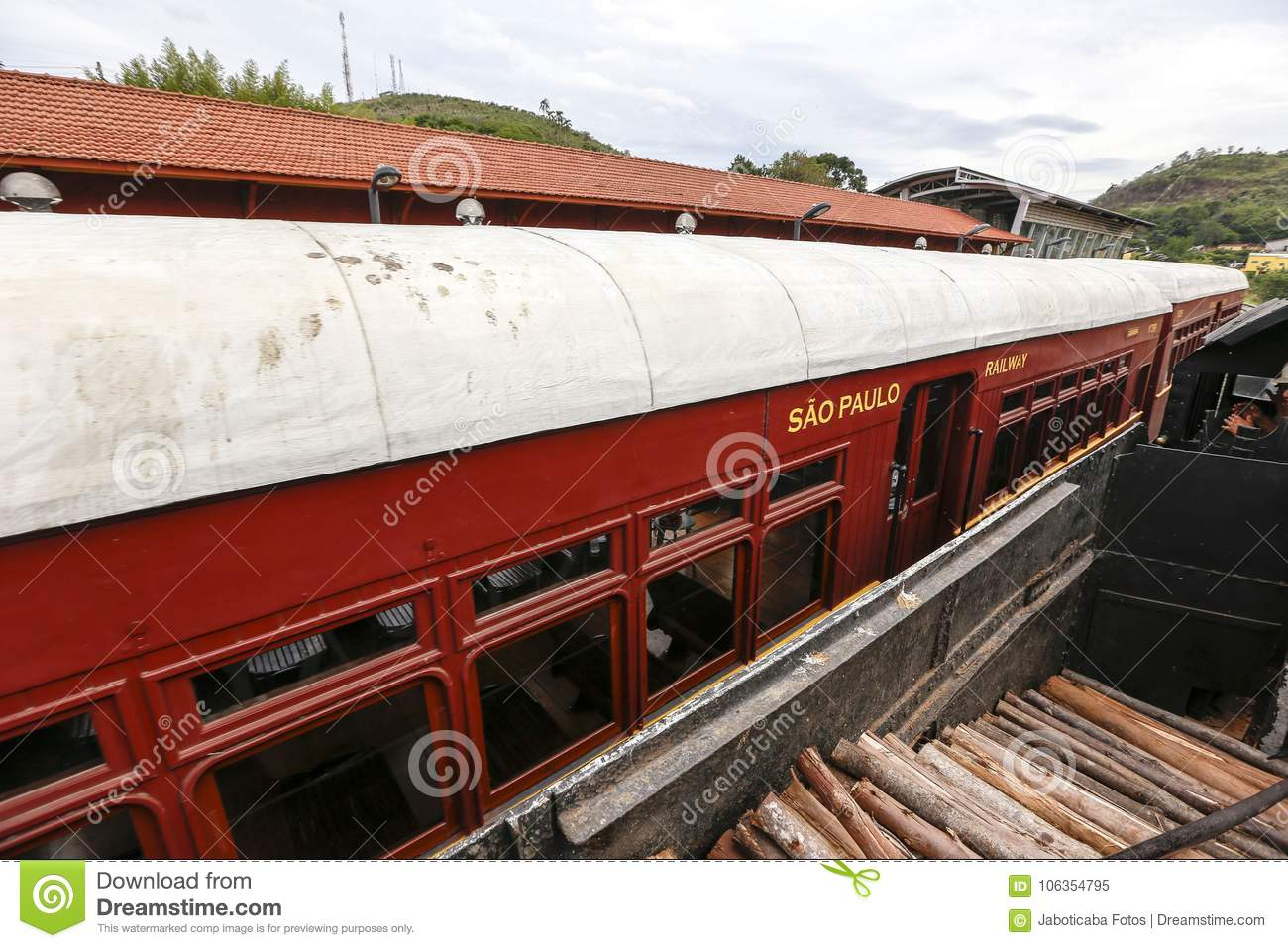 Passenger Wagon Of Old Steam Train Stock Image - Image of