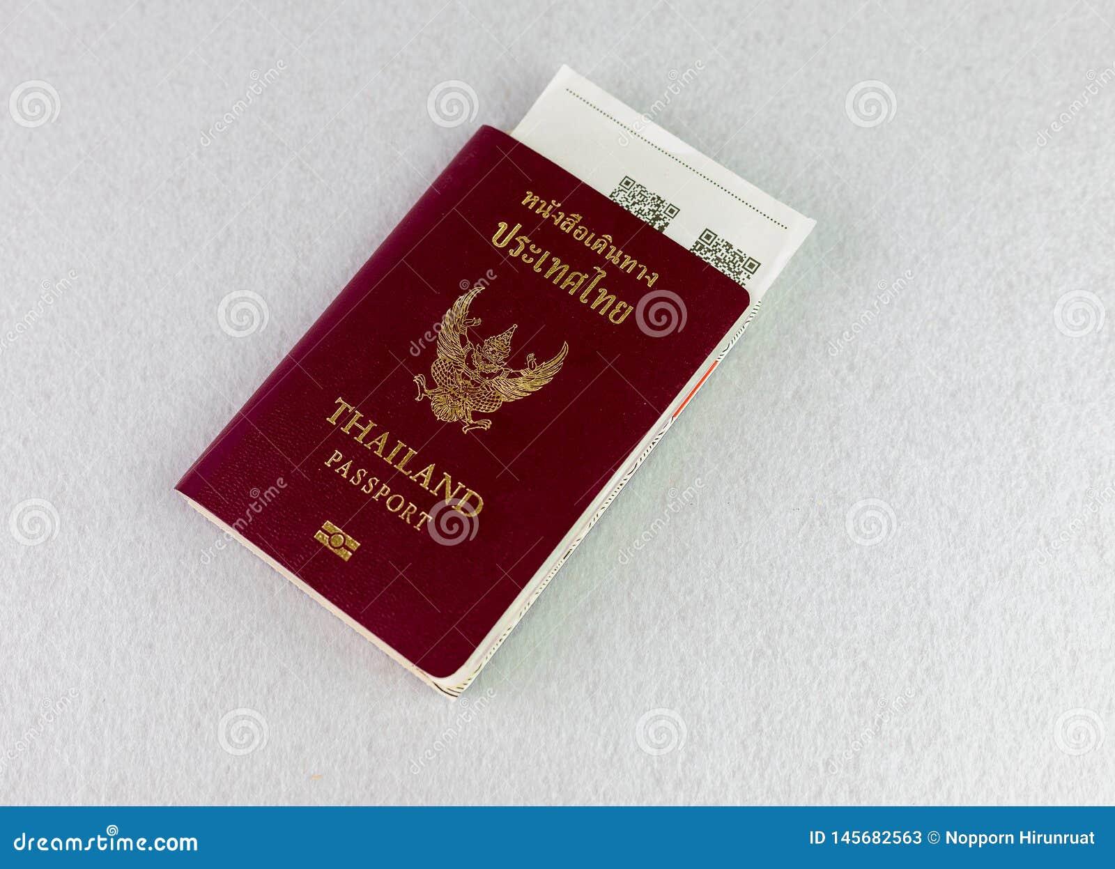 Passeport de la Tha?lande sur le fond d isolat