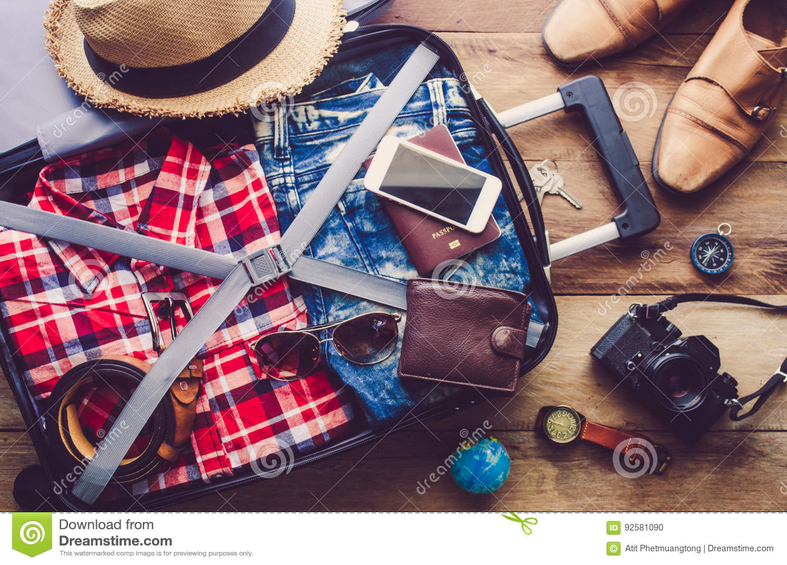 Passeport du ` s de voyageur d habillement, portefeuille
