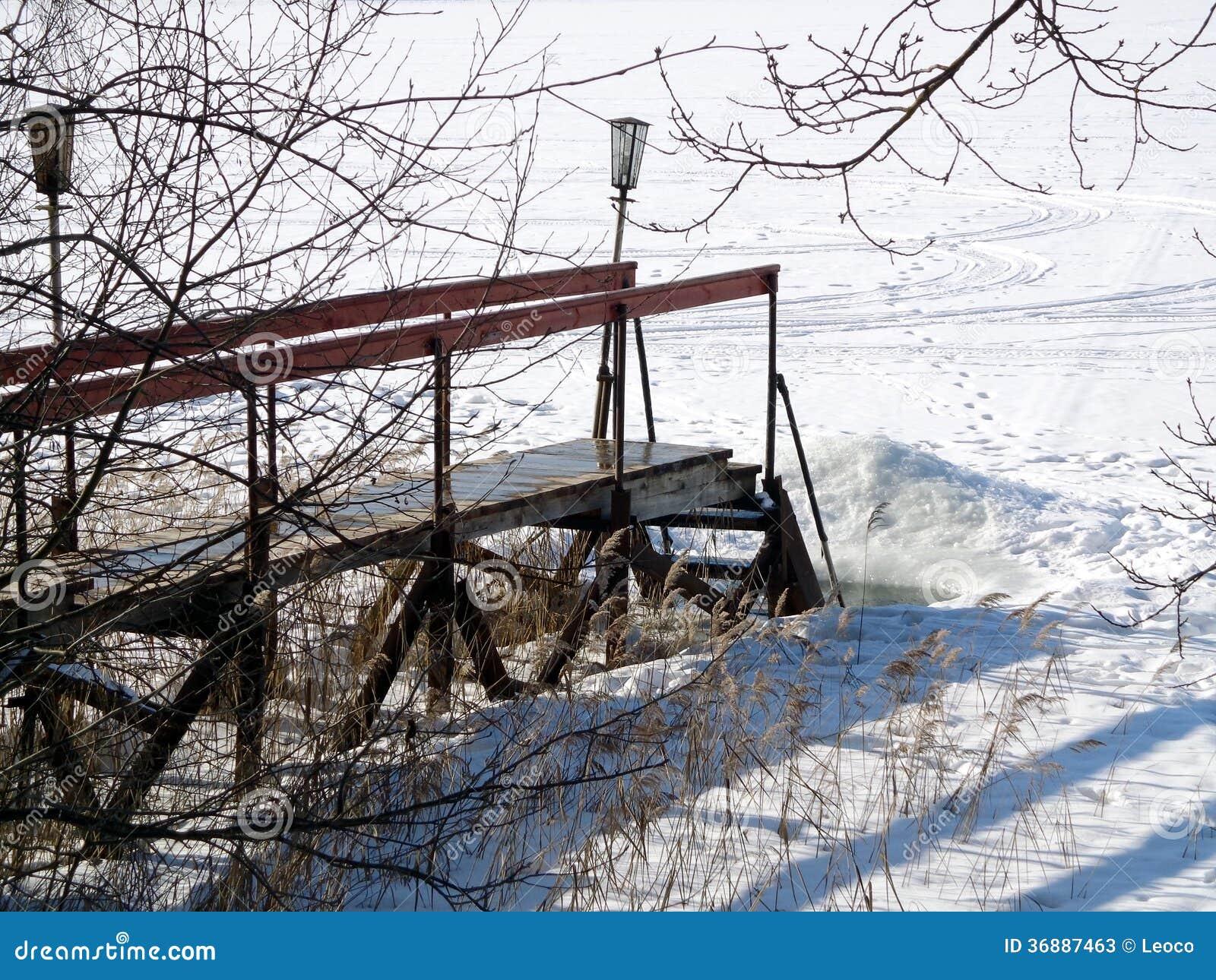 Download Passerella immagine stock. Immagine di lago, congelato - 36887463