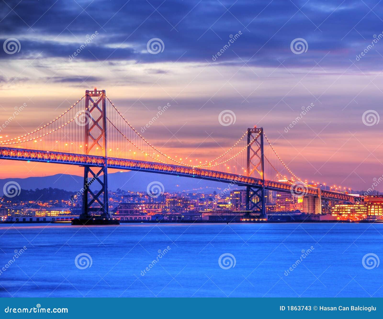 Passerelle de compartiment, San Francisco au crépuscule