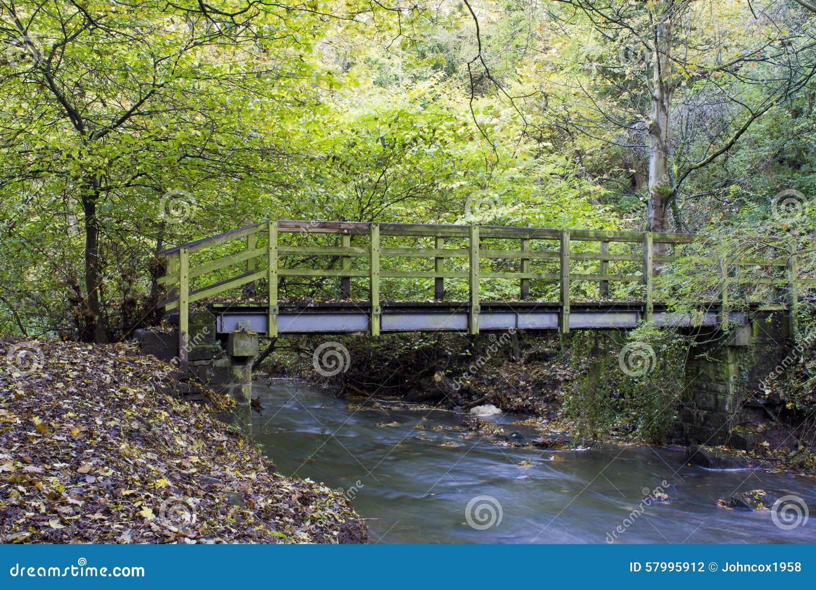 Passerelle en bois, Holywell Dene, le Northumberland