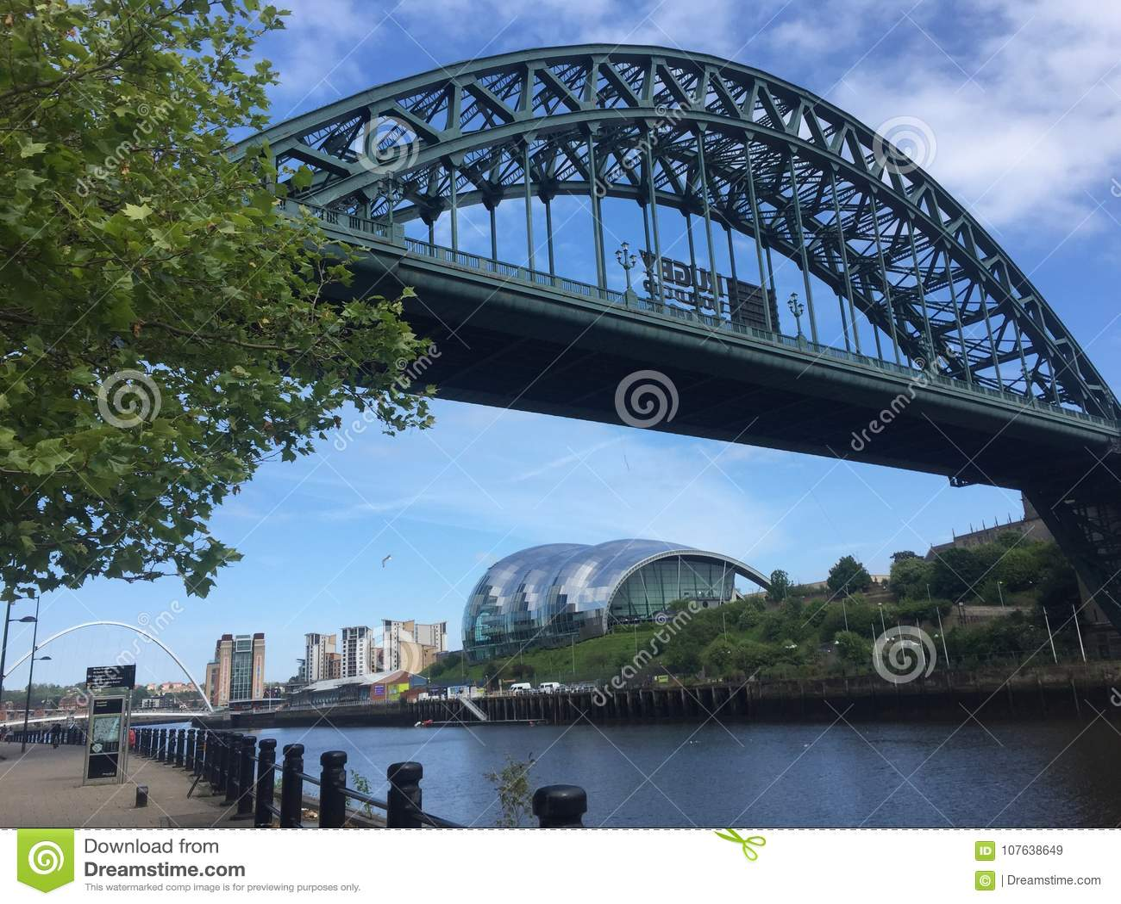 Passerelle et sauge Gateshead de Tyne