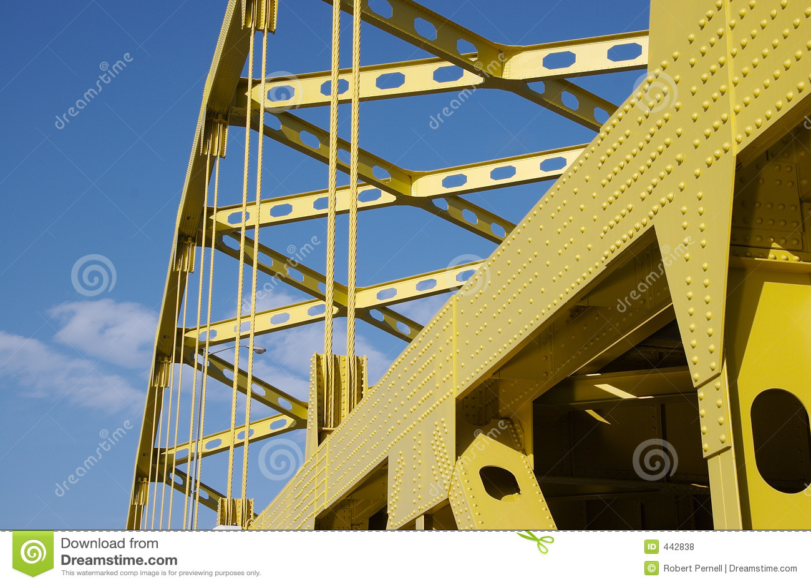 Passerelle jaune