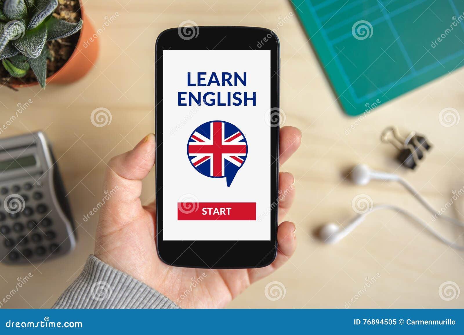 Passi la tenuta che lo smartphone con online impara il concetto inglese sull SCR