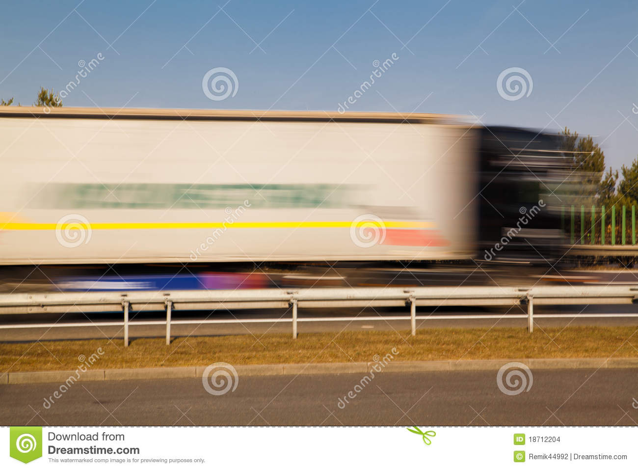 Passing Truck Stock Images Image 18712204