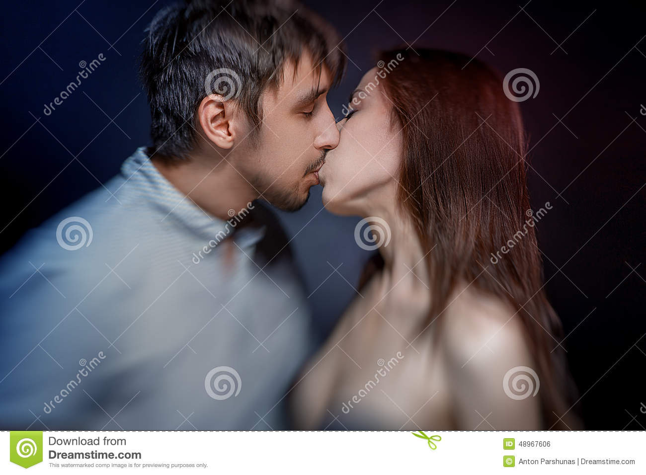 Passionate Kiss By Male And Female Stock Photo Image Of Human Passionate 48967606