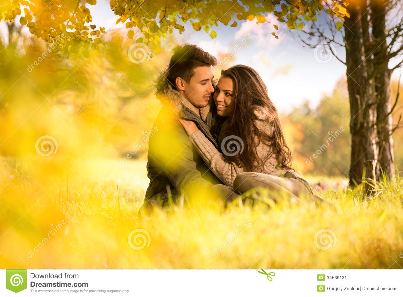 Passionate Love Under The Tree Stock Image Image Of