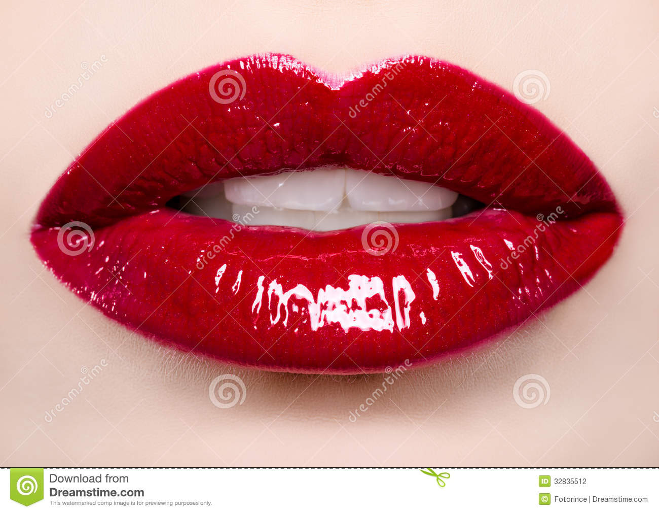 Passionate Red Lips Stock Photography - Image: 32835512