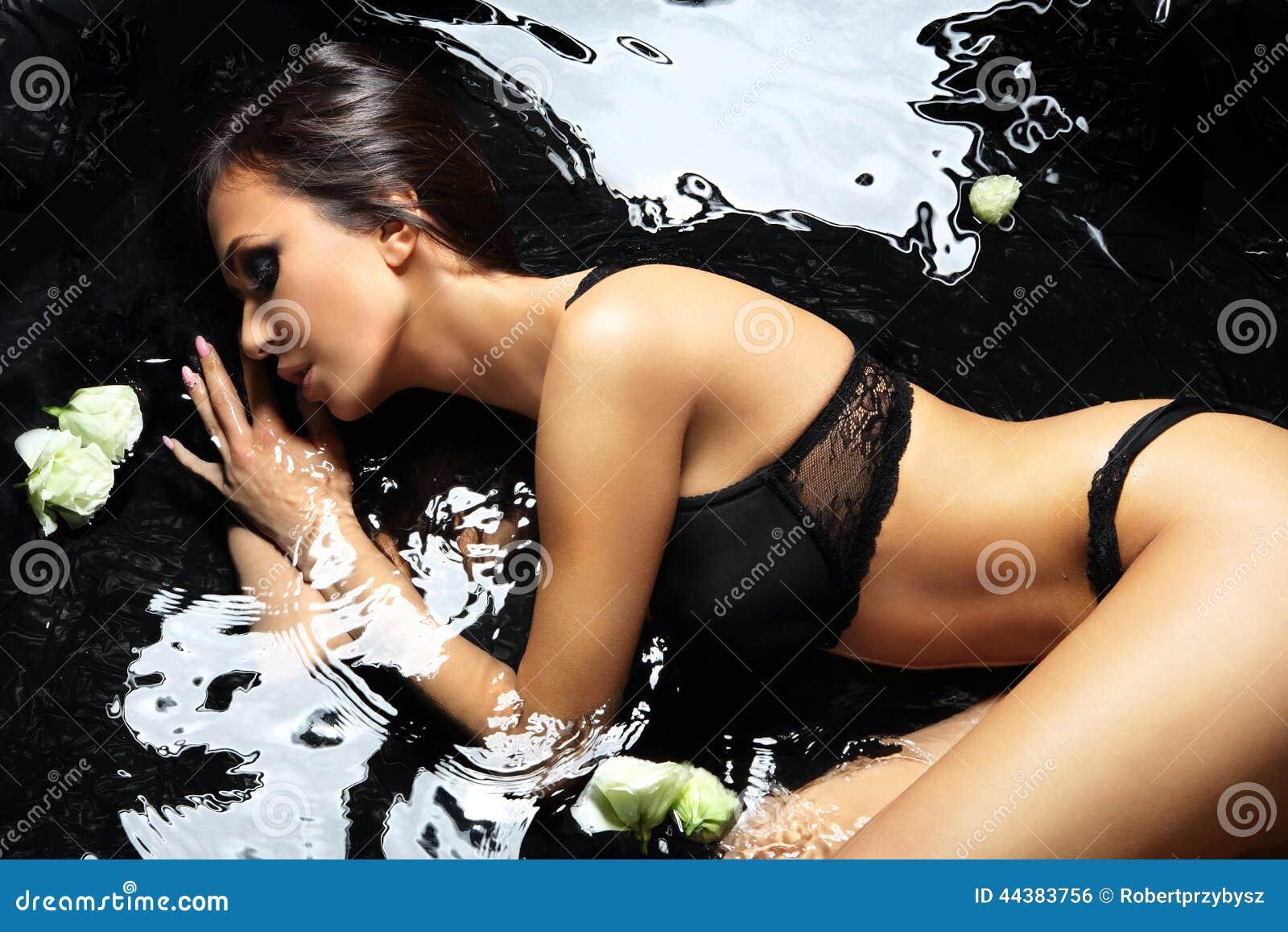 Passionate Woman In A Bath