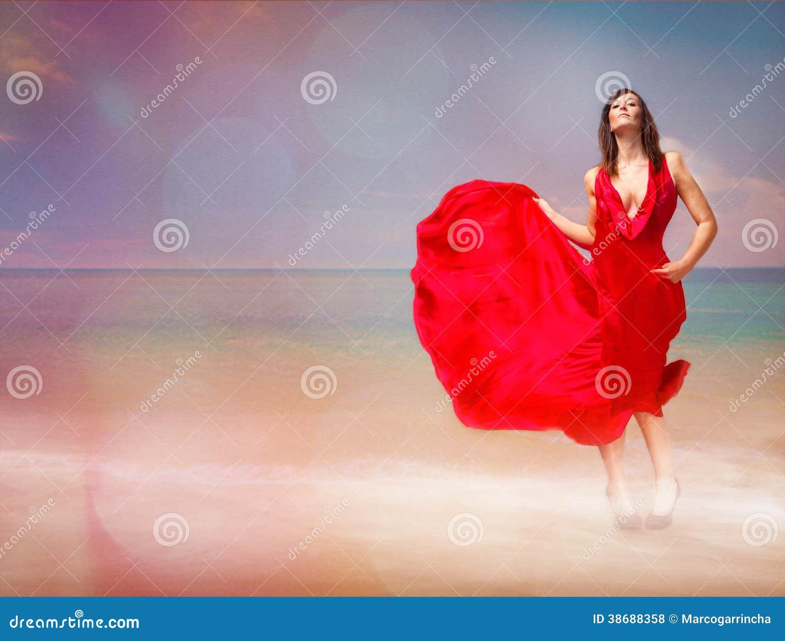 Passione rossa sulla spiaggia