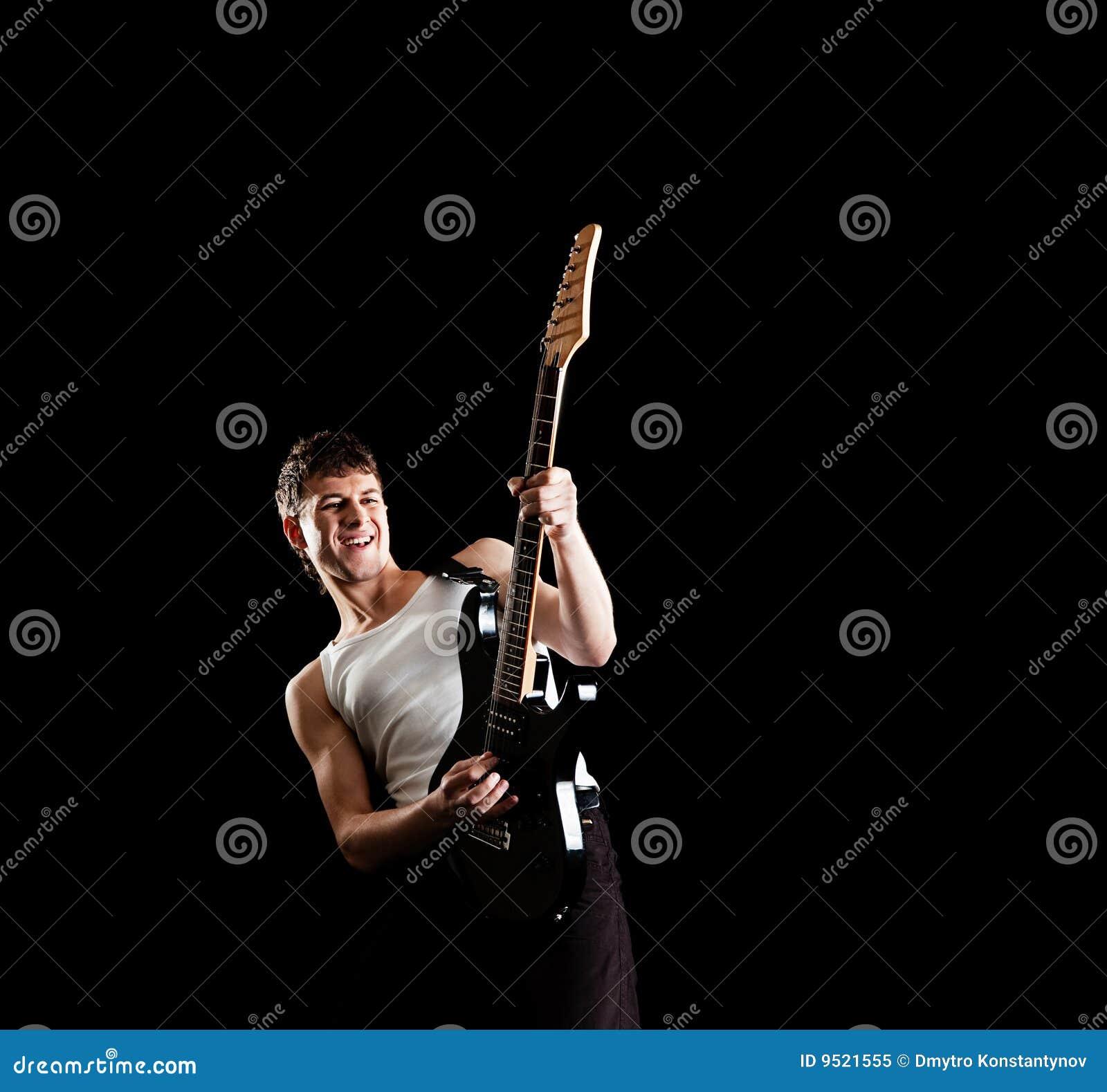 Passionerad gitarrist
