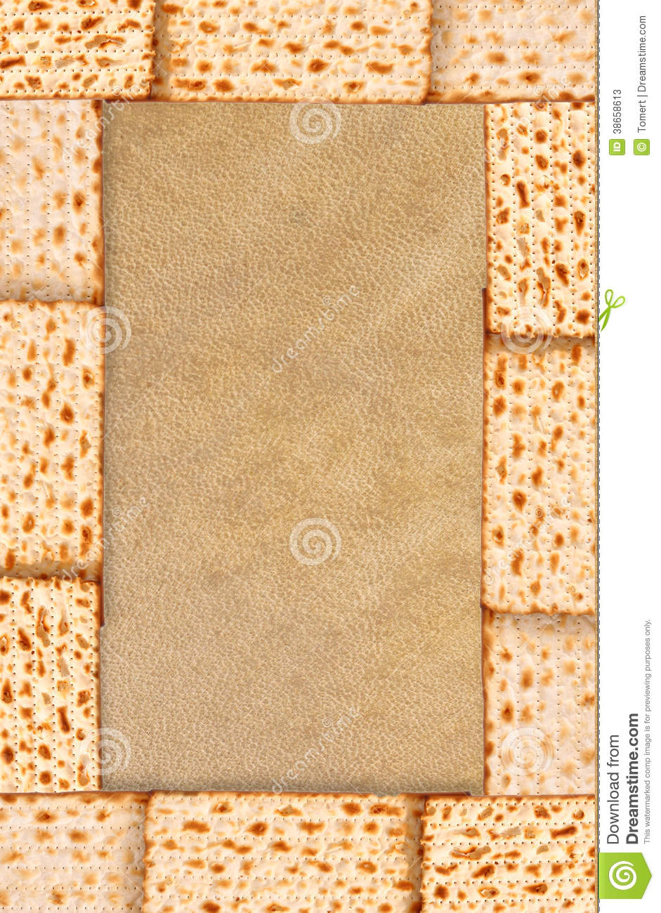 Passover background matzoh (jewish passover bread).