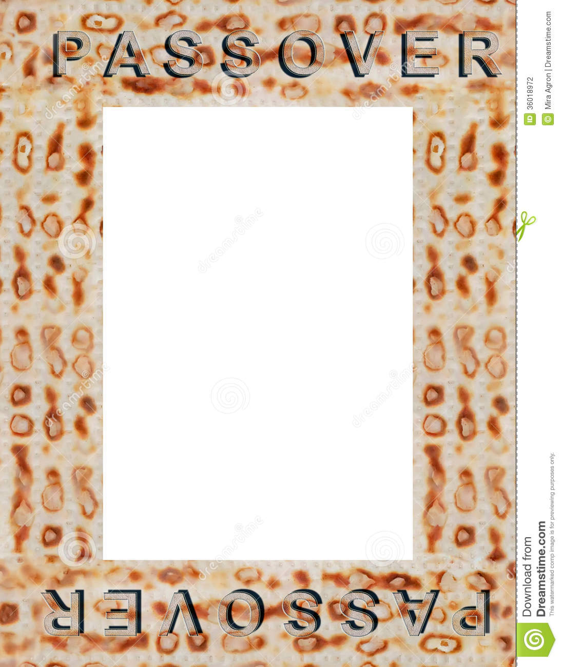 Passover Frame Stock Photo Image Of Matza Border Matzo 36018972