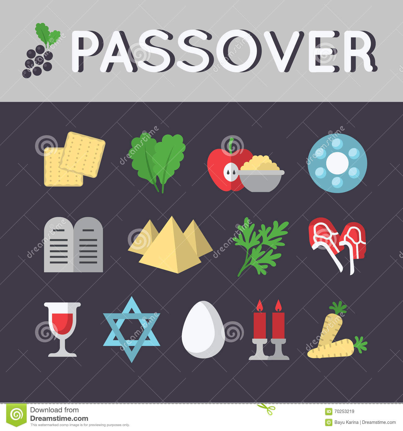 Passover Icon Set Eps 10 Stock Vector Illustration Of Bitter