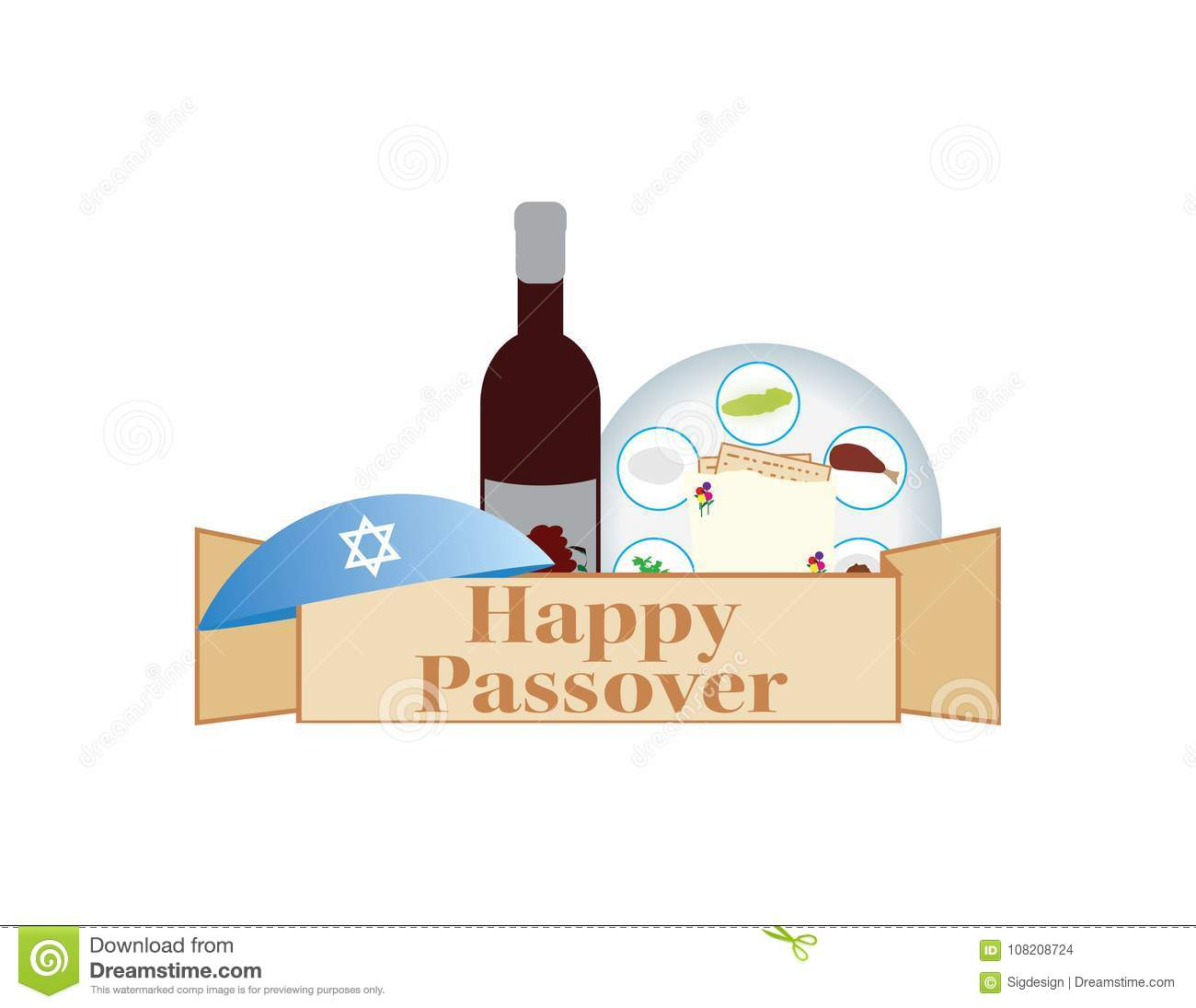 Passover jewish holiday banner passover greeting wine flowers and download passover jewish holiday banner passover greeting wine flowers and kippah stock vector m4hsunfo